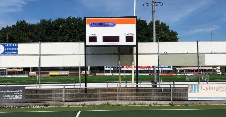 MHCV sportveld scorebord